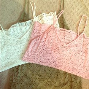 3 knit loose weave adorable tanks